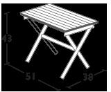 Folding table 51